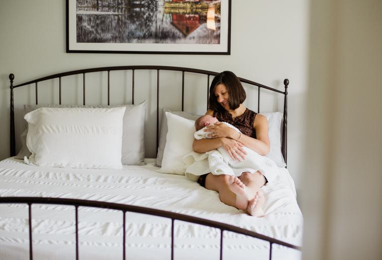 Vermont family welcoming home newborn baby girl